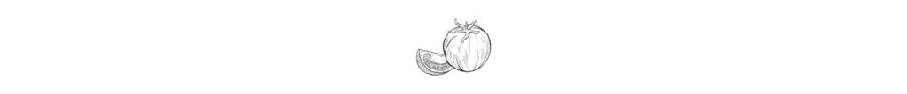 Schwarz-weiß Grafik zweier Tomaten