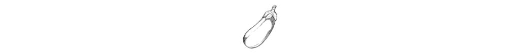Schwarz-weiß Zeichnung einer Aubergine